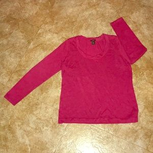 Berry long sleeve pullover top